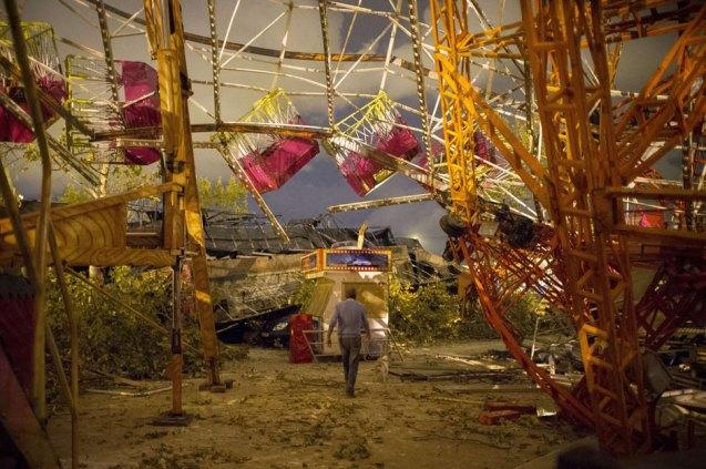Aftermath of tornado Spain