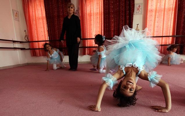 Sana'a, Yemen: Girls at their first ballet class