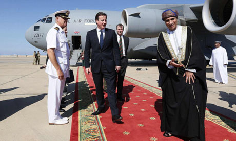 David Cameron in Oman, 2012